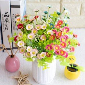 Faux Mini chrysanthème Bouquet (6 tiges / pièce) Chrysanthèmes simulation avec mousse de fruits pour le mariage décoratifs pour la maison Fleurs artificielles