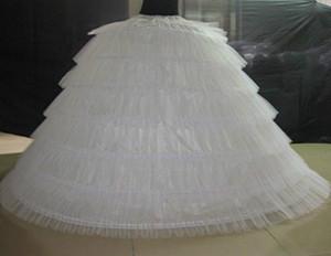 Brand New Big White Super Petticoats Puffy di sfera sottogonna 6 Hoops lungo slittamento crinolina per l'adulto sposa / vestito convenzionale