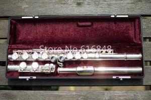 목성 JFL - 511E - II 브랜드 플루트 악기 16 키 구멍 Cloth Cupronickel 실버 도금 플루트 C 조정 Flauta 무료 배송