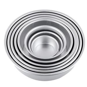 """Ferramentas de decoração do bolo fondant 4 """"Liga de Alumínio Não-stick Redonda Bolo Baking Mold Pan Tin Mould Bakeware cozinha"""