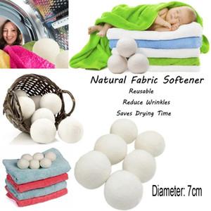 7cm bola limpiable del lavadero de la bola orgánica natural del suavizador de la bola Bolas superiores del secador de la lana orgánica de la bola
