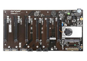For ONDA D1800 BTC D1800-BTC Mining Machine Mining Motherboard Support 6 cards All Solid State Capacitor Com