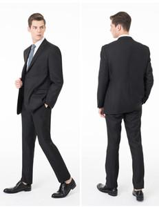 2018 Yeni Örgün Smokin Suit Erkekler Wedding Suit Slim Fit İş Damat Takım Elbise Seti Suits Smokin İçin Erkekler (Ceket + Pantolon)