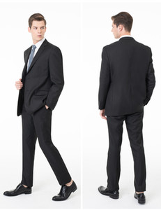 2018 New ternos smoking terno formal Men Wedding Set Slim Fit Negócios noivo terno ternos smoking para os homens (jacket + pants)