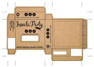 Cajas de papel kraft personalizadas en alta calidad con impresión en color negro 80x80x20 Cajas de papel kraft con ventana troquelada 500xA4 Pegatinas / etiquetas de papel kraft