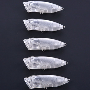 7см 10г Поппер Blank Прозрачные Приманки тела Walking Приманки Рыбалка Lure Top Water неокрашенной попер Topwater для Saltwater пресной воды