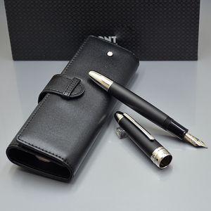 أعلى الفاخرة meistersteks 149 سمكا برميل الكلاسيكية ميغابايت نافورة القلم مونتي ماركة الكتابة مجموعة أقلام الحبر مع حقيبة القلم أفضل هدية عيد للرجل