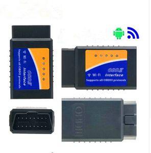 Código Super Mini ELM327 Wifi V1.5 OBD2 OBDII lector ELM 327 explorador auto herramienta de diagnóstico ELM327 inalámbrica para Android iOS teléfono
