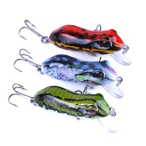 High Quanlity Marca Artificia Frog Minnow Laser esca per la pesca fishlure 6cm 10g 3 colori crankbaits d'acqua dolce Walleye bass fishbait