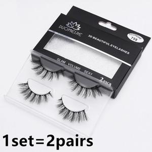도매 16styles 최고 품질의 가짜 속눈썹은 속눈썹을 가짜 속눈썹 3D 밍크 1set = DHL에 의해 2pairs 무료 배송