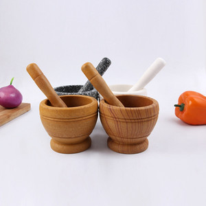 Mortar and Pestle Kitchen Garlic Mills Pounder Cuisine Garlic Mills Mixing Pot Herb Pepper Minced Tool Mortar Grinder