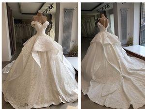 Gerçek Fotoğraf Fildişi Dantel Balo Prenses Gelinlik Modelleri Afrika Sevgiliye 2019 vestito da sposa Vintage Gelin Gelinlikler