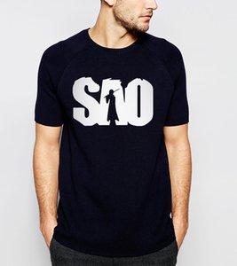 Anime chaud épée Art Online Sao imprimé 2018 été nouvelle mode hommes T Shirt 100% coton S.a.o T-shirts Hip Hop Style Tops T-shirts