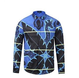 Großhandelsmarken-Hemdrollbahn der neuen Männer Marke drucken lange Hülse plus Hemdhemddesignerluxuxhemd-Männer der Größe 3d die Kleidung der Männer