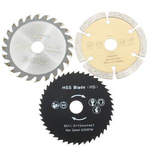 3PCS 85mm 원형 톱 블레이드 HSS / TCT 목공 로타리 공구 커팅 디스크 Mandrel for Mini Circular Saw