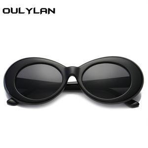 Oulylan Clout Gözlükler NIRVANA Yuvarlak Güneş Kurt Cobain Gözlük İçin Kadın Erkek Retro Güneş Gözlükleri UV400 Gözlük