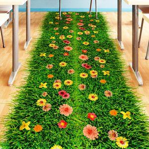 2017 Мода DIY Природа Красочные цветы Трава стикер стены Home Decor 3d наклейки для стен цветочные ТВ Спальня Сад Домашнее украшение