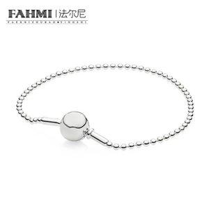 FAHMI 100% argento sterling 925 originale 596002 BRACCIALE CON PERLINE IN ARGENTO - COLLEZIONE Fashion Wedding Jewelry Sweet Romantic