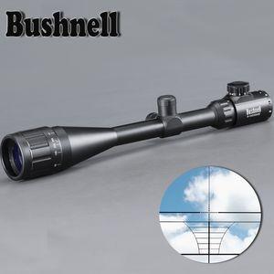 BUSHNELL 6-24X50 AOE Прицел регулируемый Зеленый Красный Dot Охота Light Tactical Scope прицел Оптический прицел Область применения