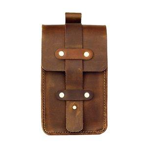 Moterm Genuíno Couro Fanny Pack Saco Da Cintura Pequeno Tamanho 4x2.4x6.3 polegadas Cinto Bolsa de Telefone Bolsa para Homens Pacote de Cintura de Viagem Do Vintage