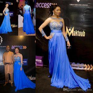 Mariam Mohammed Abiye Yüksek Kalite Seksi Bateau Boncuklu Uzun Parti Elbise Örgün Ünlü Inspired Olay Balo Abiye