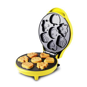 220V 640w Cartoon Plaque de cuisson électrique Machine à gâteaux Double face à chauffage automatique Épais plateau de cuisson revêtement antiadhésif