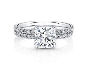 9K, 14K, 18K en oro Anillo de compromiso de boda con diamante Moissanite con corte radiante de 1Ct y certificado A / F color VVS Claridad Brillo para siempre