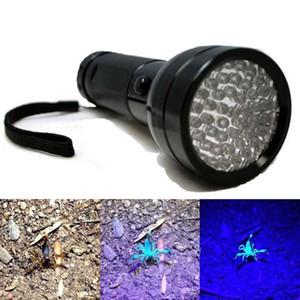Алюминий 51 Led УФ фонарик Факел ультрафиолетовый Blacklight обнаружения свет лампы LEF_607