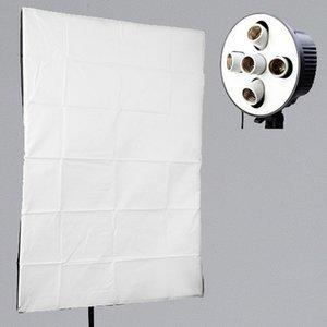 Оптовая 5 в 1 E27 гнездо держатель лампы + 60x90 см софтбокс для фотографии фотостудия освещение палатка комплект для непрерывного света