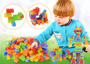 286 e 416 Grandi blocchi di costruzione di barilotti di legno di grano Giocattoli educativi che sviluppano puzzle di istruzione di prima infanzia Intelligenza Adatto a B