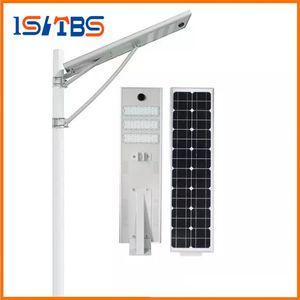 استشعار الرادار 60W الصمام شارع الخفيفة للطاقة الشمسية للماء الصمام ضوء الطريق LiFePO4 Battery2000 + دورات عمر 8 سنوات لوحة للطاقة الشمسية مونو مصباح الأمن