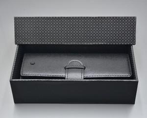 Novo Luxo MB caneta case Para Top Grade portátil de Couro Preto caixa de lápis Como presente de Aniversário de Natal Dos Namorados com embalagem Original caixa
