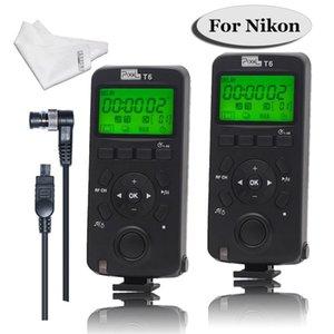 Toptan Kablosuz Deklanşör Zamanlayıcı Uzaktan Kumanda Verici T6 / TW283 DC0 / TW-283 DC2 Nikon D800 D3100 D7100 D5200 D7500