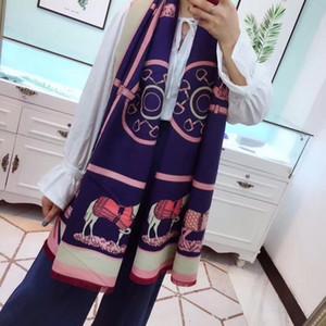 Marca lane di inverno sciarpa di pashmina per le donne caldo Stile Horse Blanket Sciarpe sciarpe di lana Cachemire Cotone Sciarpa Gifts 180x70cm