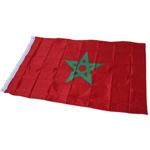 90 x 150cm 모로코 깃발 깃발 - 5 * 3 FT 폴리 에스터 재료가 깃발을 걸고 국기 모로코 홈 마당 장식