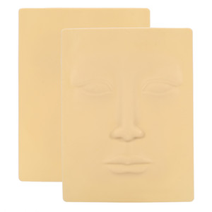 3D Cara de silicona Práctica de tatuaje Piel Cosmética Maquillaje permanente Microblading Formación Ceja de silicona Práctica de piel para ojos