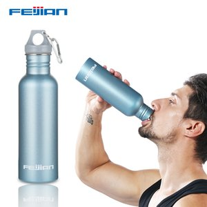 Feijian colorful Sport Water Bottle Large capacity Portable Stainless Steel Wide Mouth Drinking Outdoor Cycle Kettle flask camp