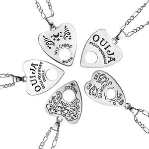 Oco Amor Coração Pingente Adivinhação Bruxa Carta Colar Mulheres Cadeia de Moda Colar de Jóias bijoux colarinho mujer atacado