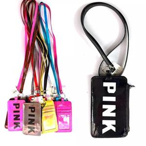 2018 держатели карт кошельки розовое письмо Лазерная мода портмоне вещи мешки открытый мешок 10 цветов