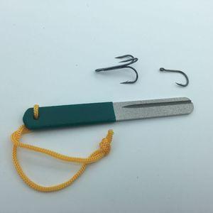 10 pc / lot Diamond Fishing Hone for treble hook Fishook Sharpening Fishing Tackle Sharpener Fish Insper