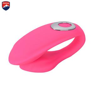 Mlsice Recarga 10 Velocidades Vibrador de doble extremo de silicona Diseñamos Vibe Vibradores de Juguete Sexual Adulto Para Parejas Productos Sexuales Y18102605