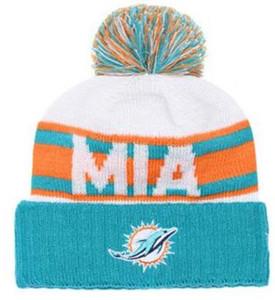 Самые продаваемые шапочка Miami шапка MIA Sideline в холодную погоду с обратным ходом Спортивная вязаная шапка с манжетой и крышкой с черепом Pom Winer