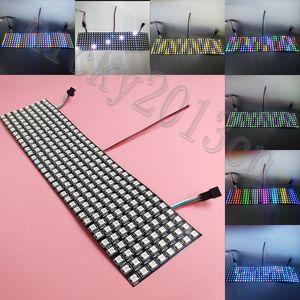 5V WS2812B 5050 RGB LED 256 Pixel Flexible Instrumentenbeleuchtung Individuelle Adressierbarer Programmierbare Matrix 8 cm x 32 cm für Digital-Display-Bildschirm