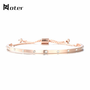 Noter Kristall gepflasterte Bacelets Armbänder Gold-Silber-Farben-Kupfer-Nominierung für Frauen-Männer Armband Schmuck