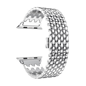 butterfly clasp stainless steel band bracelet dragon pattern for Apple Watch series 5 4 3 2 1 38mm 40mm 42mm 44mm