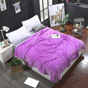 Fashion Hot Fresh Natural New Purple Solid Color Modern Style Blanket Comfortable Soft 7 Color Optional