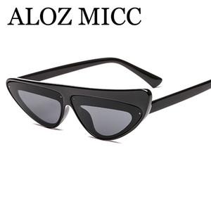 ALOZ MICC 2018 Retro Kedi Göz Güneş Kadınlar Marka Tasarımcısı Eğilim Küçük Çerçeve Üçgen Güneş Gözlükleri Kadın UV400 Gözlük A523