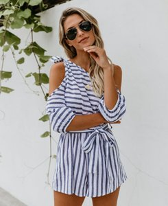 Womens Sexy Holiday Playsuit Dames Une épaule Lace Up Summer Beach Playsuit