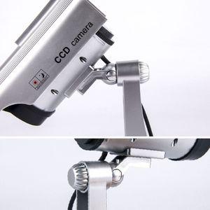 태양 광 발전 가짜 카메라 시뮬레이션 더미 가짜 카메라 태양 광 발전 방수 야외 실내 보안 CCTV 감시 카메라 총알 깜박임