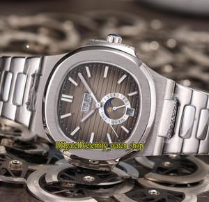 Высокое качество Новый Спорт Nautilus 5726/1 5726 / 1A-001 дата фазы Луны циферблат автоматические механические мужские часы 316L стальной ремешок спортивные часы 03